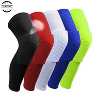 Wholesale Airsoftsports Tactical Hot Sale Promotion Knee Pads In Pro Sports Basketball Safety with Honeycomb And Extended Knee for Leg