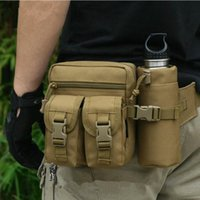 Wholesale military bags for sale - Outdoor Military Tactical Shoulder Bag Waterproof Oxford Molle Camping Hiking Pouch Kettle Bag bolsillo Waist Pack Bag6 colors