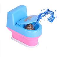 Wholesale kid water toys online - Funny Closestool Joke Toy Novelty Children Gift Halloween Prank Spray Water Toilet Vent Toys Multi Color tx C