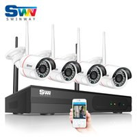 Wholesale night vision home surveillance system for sale - New Arrival P HD Outdoor IR Night Vision Home Video Surveillance Security IP Camera Wifi CCTV Kit CH Wireless Security System