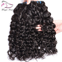 Wholesale crochet human hair extensions online - 9A Human Hair Bundles G Bundles Water Wave Brazilian Virgin Hair Weave Crochet Human Hair Extensions