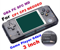 Wholesale RETROGAME Mini Handheld Game Player bit inch LCD Portable Game Console For CP1 CP2 NEOGEO GBA FC SFC MD Format Games support TF Card