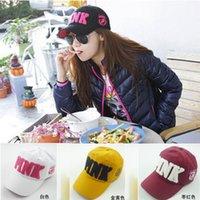 Wholesale sun hat for sale - Pure Color Embroidery Letters Cap Men And women Available Cotton Sun Hat Comfortable Breathable Baseball Cap Colors Optional