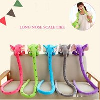 Wholesale 170CM Elephant Long Nose Toy Decoration Long Nose Measuring Height Plush Toys Stuffed Animals Doll Children Kids gifts Birthday