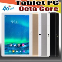 Wholesale E MTK6737 inch quot Tablet PC Octa Core IPS Bluetooth GB RAM GB ROM G LTE Dual sim Phone Android GPS