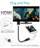 Wholesale ipad air usb adapter online - For Ipad Iphone to HDMI Adapter For Lightn to Digital AV HDMI K USB Cable Connector Up To P HD For Iphone X S Ipad Air Ipod