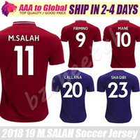 Wholesale Mohamed Salah Jersey Home Camiseta de futbol Mane Virgil Henderson Milner Lallana Firmino soccer Jersey Football shirts uniform