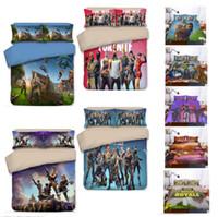 Wholesale quilts duvets for sale - 3D Printed Bedding Game Fortnite kids room Bedding Sets Fortnite Battle Royale duvet Cover Set pillowcase quilt cover bed US AU size gifts