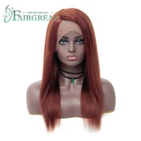 Wholesale auburn wigs human hair for sale - Indian Lace Frontal Wig Pre Plucked With Baby Hair Straight Lace Front Human Hair Wigs For Black Women Remy Hair Lace Front Wig