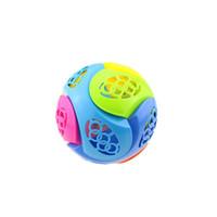 Wholesale flash music ball wholesale for sale - Assembling Dance Ball Children Puzzle Toys Flash Of Light Music LED Lighted Plastic DIY Hot Sale sc V
