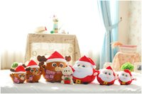 Wholesale baby boy soft toys online - Music Plush Doll Baby Santa Claus Elk Sing Toys Kids Electronic Product Stuffed PP Cotton Boys Girls Cute Christmas Cartoon Gift Soft