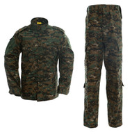 Wholesale army camo uniforms for sale - Army Tactical Uniform Hunting Camo Camouflage Suit Outdoor Combat Suit War Game Clothing Shirt Pants