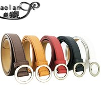 Wholesale Belt Thin Buckle New Metal Ladies Genuine Leather Candy Colors Waistband Skinny
