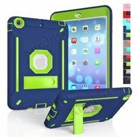 Wholesale In UK Warehouse Hybrid High Impact Dropproof Shockproof Protector Case Cover Kickstand For iPad mini Children Christmas Birthday gifts