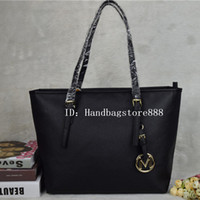 Wholesale tote bags for sale - Famous brand Designer fashion women bags luxury bags jet set travel MICHAEL KALLY lady PU leather handbags purse shoulder tote female
