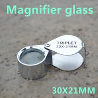 Wholesale 20PCS set of jewelers magnifier led light source jewelry magnifier X21MM