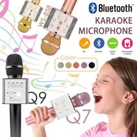 Wholesale Q7 Q9 WS858 Creative Wireless Bluetooth KTV Karaoke Microphone USB KTV Speaker Upgrade Version Mic Karaoke Player For Smartphone