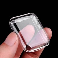 Wholesale apple watch case online - For Iwatch Case mm mm D Touch Ultra Clear Soft TPU Cover Bumper for Apple Watch Series Screen Protector for Ap Watch Cases