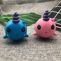 Wholesale whales toys for sale - Unicorn Squishy Slow Rebound Rising Squishies Jumbo Kawaii Squeeze Phone Charm Small Whale PU Vent Toy Soft hw V