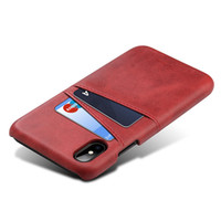 Wholesale galaxy light phone cases for sale - Retro PU Leather for samsung galaxy s9 plus case luxury phone case Card Holder Wallet mobile Phone coque for iphone x case