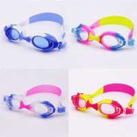 Wholesale kids diving toys online - Antifog Waterproof Swimming Goggles For Children Kids Diving Glasses Outdoor Water Sports Swim Eyeglasses Multicolor Optional ms YY