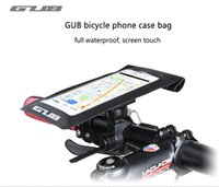 Wholesale bicycle phone holders waterproof online - Bicycle Bag For Cell Phone Bike Frame Front Head Tube Waterproof Touch Screen Holder Bag For Motorcycle Cycling Car GPS