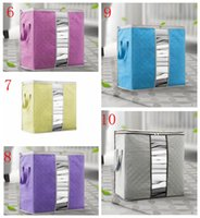 Wholesale boy girl bedding for sale - 10 styles New Non Woven Portable Clothes Storage Bag Organizer Folding Cupboard For Pillow Bedding Blanket Bags