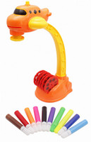 Wholesale learning draw for kids online - 7TECH Drawing Projector kids Art Toy Playset with Patterns and Colorful Water Pens Treasures Tracer Art Projector For Kids Airplane