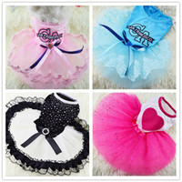 Wholesale dog sunglasses online - Cute Letter Printed Small Dog Tops Dog Cat Puppy Clothes T Shirt Dress Pet Costumes for Small Dogs