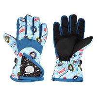 Wholesale children glove winter online - For Children Winter Sports Gloves Outdoor Keep Warm Five Finger Glove Plus Velvet Thicken Mittens High Quality yc BB