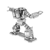 Wholesale laser cut steel online - Crab Shaped Robot Metal D Puzzle Mecha Robot Stainless Steel Laser Cutting Model Building Kits Children DIY Assembly Jigsaw Toy