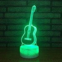 Wholesale ball guitar online - Guitar Lamp D Optial LED Lamp Crack Lamp Base AA Battery USB Powered RGB Light DC V