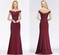 Wholesale red formal bridesmaids dresses for sale - Elegant Long Formal Dresses For Women Off Shoulder Mermaid Backless Bridesmaid Dresses Wedding Guest Evening prom Gowns BM0065