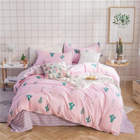 Wholesale bedding online - Fashion Bedding Sets Printed Flamingo Cactus Rose Flower Pattern Duvet Cover Personality Cotton Quilt Covers Popular wj BB