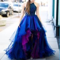 Wholesale design ball cap for sale - 2018 High Low Royal Blue Unique Design Modern Prom Dresses Popular Fashion Elegant Gorgeous Evening Evening Dresses Prom Dress