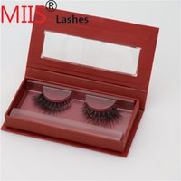 Wholesale 8mm mm mm mm false eyelahesh single red color box packing with mirror