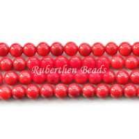 Wholesale NB0048 Trendy Natural Stone High Quantity Red Coral Loose Beads Stone Round Bead Best Jewelry Making Accessory