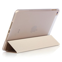 Wholesale ipad sleep wake mini for sale - Fold Magnetic Smart Cover Matte Back Case For iPad Mini Folding Case With Auto Sleep Wake