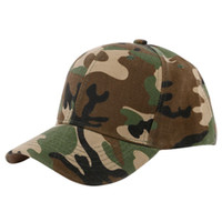 Wholesale desert camo cap for sale - Men Women Hiking Caps Camouflage Half Mesh Army Hat Sport Cap Desert Jungle Snap Camo Cap Hats
