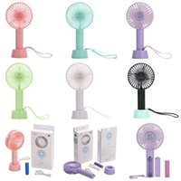Wholesale Mini Portable Fan Multifunctional USB Rechargerable Kids Table Fan LED Light Battery Adjustable Speed for Indoor Outdoor Kids