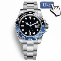 Wholesale wristwatches online - Top Luxury Master Ceramic Bezel Mens Watches Glide Lock Clasp Strap Automatic Blue Black Watch Sports Crown Watch Wristwatch Orologio Reloj