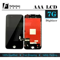 Wholesale For iPhone LCD Display Grade AAA White Black LCD Display Touch Digitizer Frame Assembly Repair For iPhone Free DHL Shipping