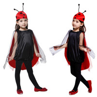 Wholesale dress hat for sale - Children Kids Halloween Cosplay Costumes for Girls Insect Anime dress with hat Cosplay Clothing for Boys Girls Stage show S M L HC38
