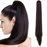 Wholesale Sara Ladies Ponytails Fashion Straight Hair Claw Clip in Ponytail Synthetic Hair pieces Pony tail Hair Extension PC CM inch g