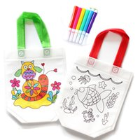 Wholesale learning draw for kids online - DIY Drawing Craft Color Bag Children Learning Educational Drawing Toys with Safe Watercolor pen for Baby Gifts