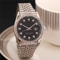 Wholesale relogio masculino Luxury brand Diamond women watch day date fashion Gold bracelet silver Stainless steel quartz clock ladies watches
