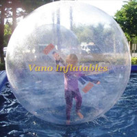 Wholesale Waterballs Commercial PVC Human Sized Hamster Ball Zorbing Water Walkers Inflatable Germany Tizip Zipper m m m m