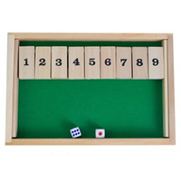Wholesale wooden toys for kids online - Puzzle Game Play Wooden Number Flop Interesting Intelligence Toys Suit Two People For Drinkers Games With Dice High Quality yh Z
