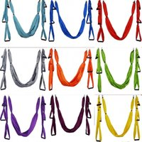 Wholesale yoga swing online - Parachute Cloth Hammock Indoor Outdoors Swing Bodybuilding Reverse The Air Yoga Bodybuilding Various Colors Lightweight New Arrival sh dd