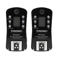 Wholesale yongnuo trigger online - YONGNUO RF605C Wireless Flash Trigger Shutter Release Channels with LCD display Screen for Cameras with C1 C3 cable